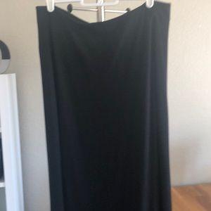 Black Loft midi skirt